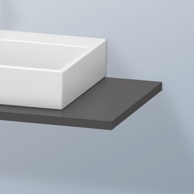 Duravit DuraStyle console for 1 countertop basin / drop-in basin matt graphite