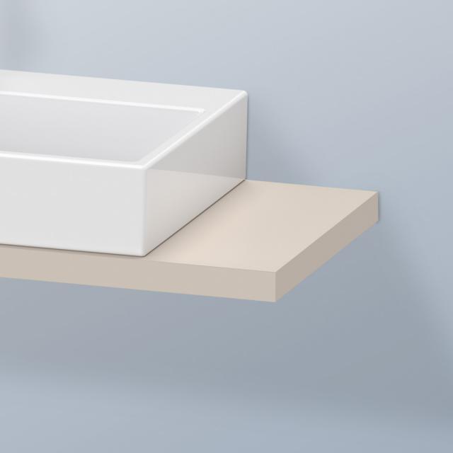 Duravit DuraStyle console for 1 countertop basin / drop-in basin matt taupe