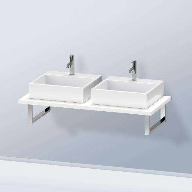 Duravit DuraStyle console for 2 countertop basins / drop-in basins matt white