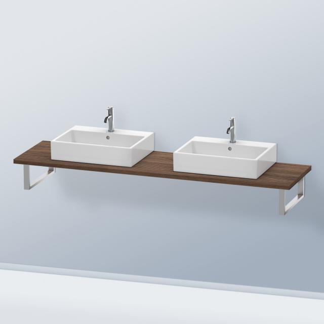 Duravit DuraStyle console for 2 countertop basins / drop-in basins dark walnut