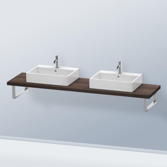 Duravit DuraStyle console for 2 countertop basins / drop-in basins dark chestnut