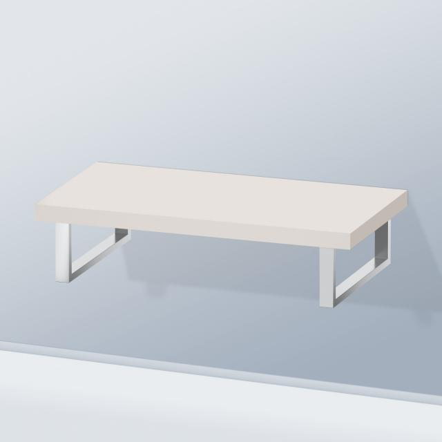 Duravit DuraStyle console without cut-out for countertop basin / drop-in basin matt taupe