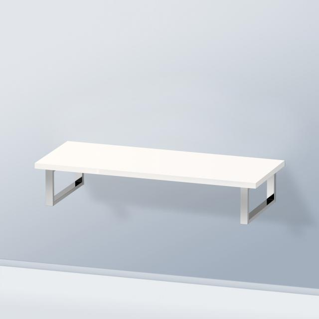 Duravit DuraStyle console without cut-out for countertop basin / drop-in basin white high gloss / without cut-out