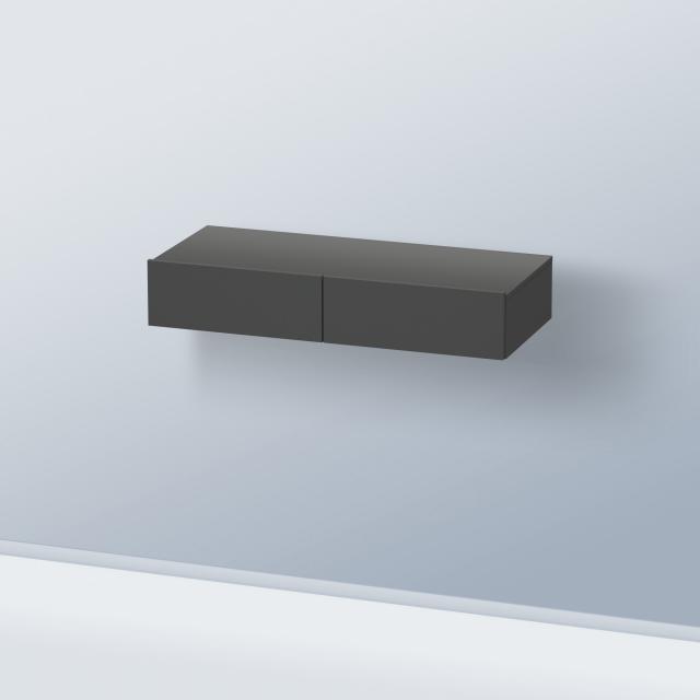 Duravit DuraStyle drawer unit with 2 pull-out compartments front matt graphite / corpus matt graphite
