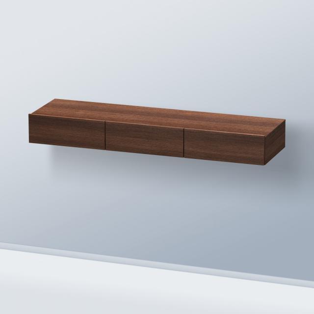Duravit DuraStyle drawer unit with 3 pull-out compartments front dark chestnut / corpus dark chestnut