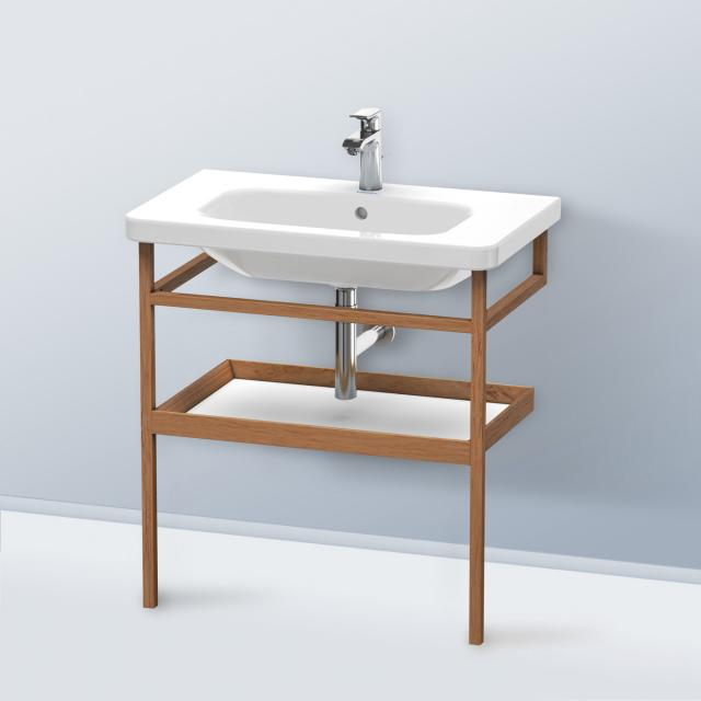 Duravit DuraStyle furniture accessoire towel rail with shelf corpus american walnut / shelf matt white