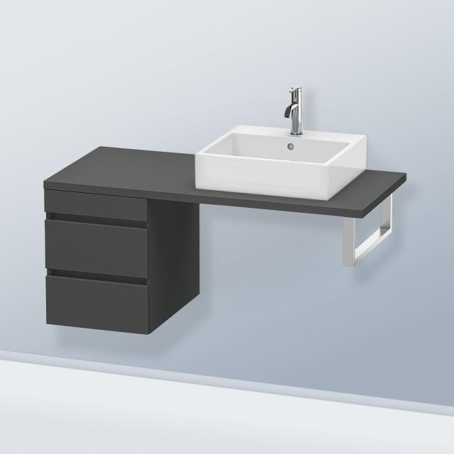 Duravit DuraStyle vanity unit for console with 2 pull-out compartment front matt graphite / corpus matt graphite