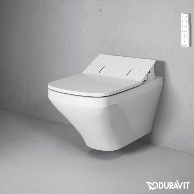 Duravit DuraStyle wall-mounted, washdown toilet Rimless with SensoWash® seat, set white