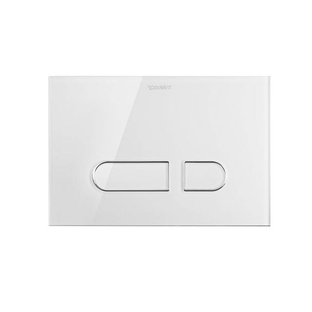 Duravit DuraSystem A1 flush plate, glass, for toilet white/white