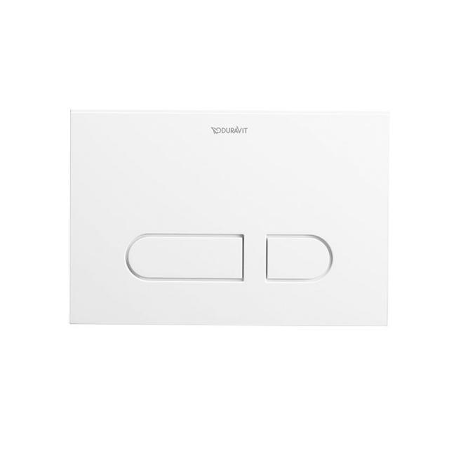 Duravit DuraSystem A1 flush plate, plastic, for toilet white/white