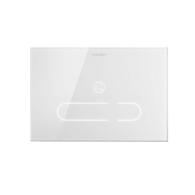 Duravit DuraSystem A2 flush plate, with IR sensor, for toilet white/white