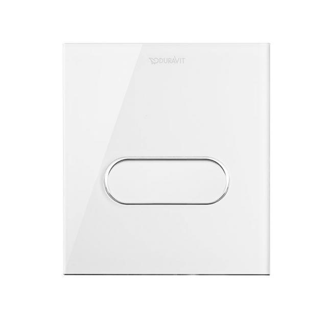 Duravit DuraSystem flush plate A1 for urinal, glass white/white