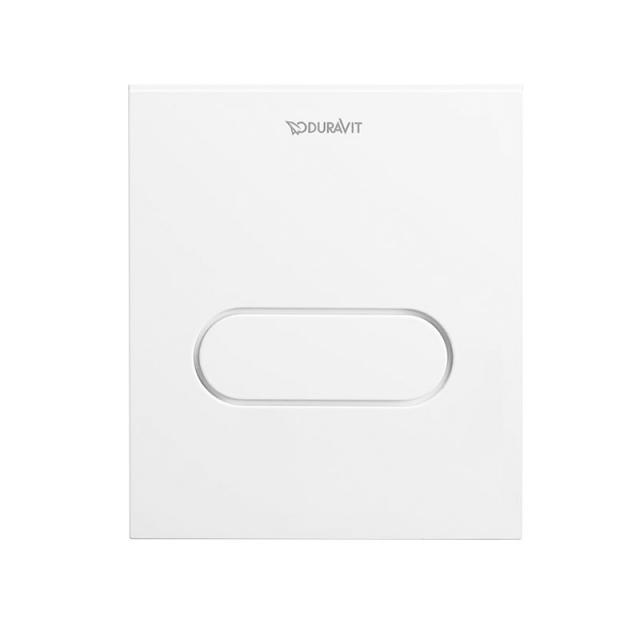 Duravit DuraSystem flush plate A1 for urinal, plastic white/white