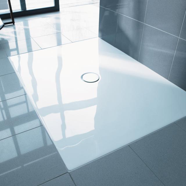 Duravit DuraPlan floor-level shower tray white, with Antislip