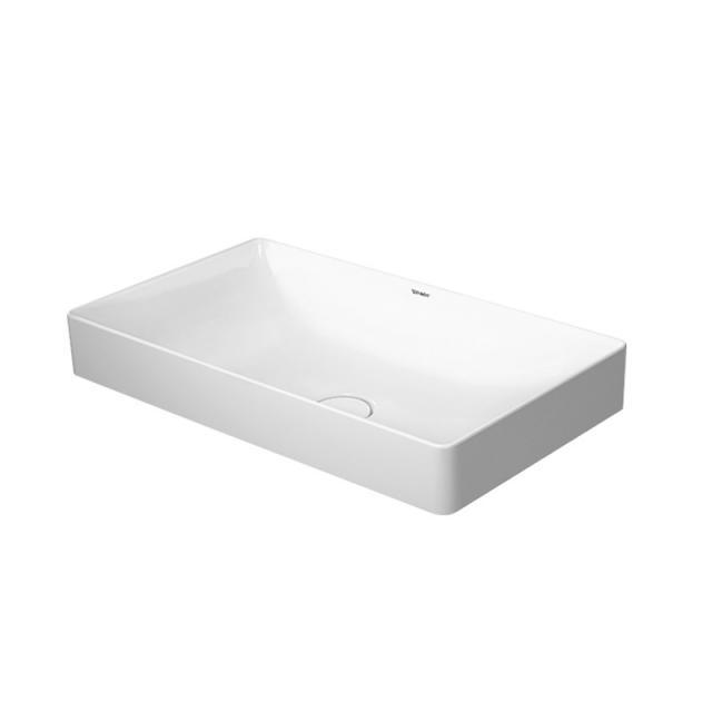 Duravit DuraSquare countertop washbasin white, with WonderGliss