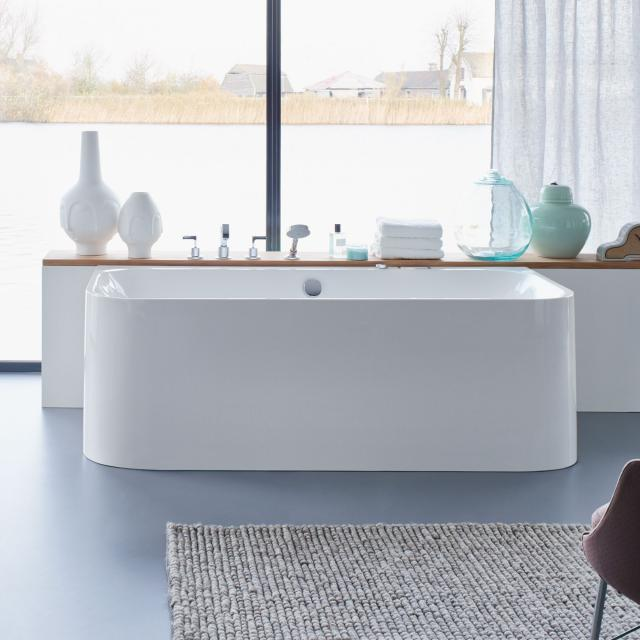 Duravit Happy D.2 back-to-wall whirlbath with panelling with Combi-System L