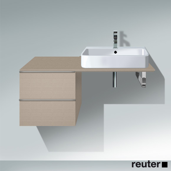 Duravit Happy D.2 undercounter unit for console with 2 pull-out compartments front linen / corpus linen, without interior system