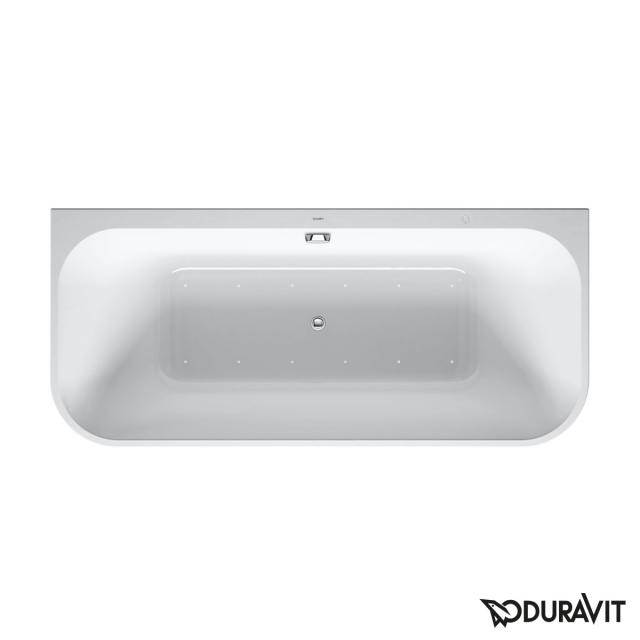 Duravit Happy D.2 Plus back-to-wall whirlbath with panelling with Air-System, waste set chrome