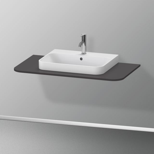 Duravit Happy D.2 Plus console for 1 countertop-/drop-in washbasin super matt graphite