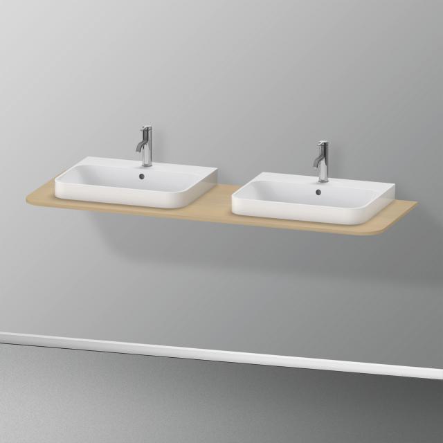 Duravit Happy D.2 Plus console for 2 countertop-/drop-in washbasins mediterranean oak
