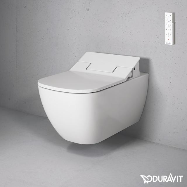 Duravit Happy D.2 wall-mounted washdown toilet Rimless with NEW SensoWash® Slim toilet seat, set white