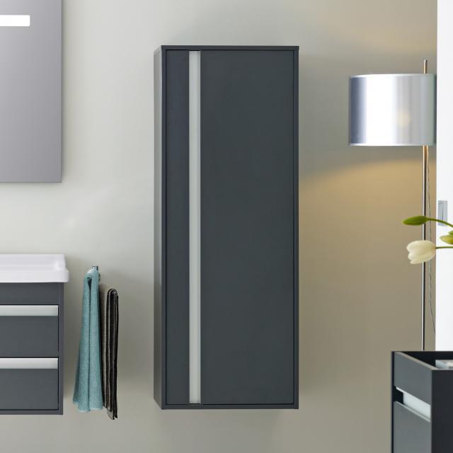 Duravit Ketho medium unit with 1 door front matt graphite / corpus matt graphite