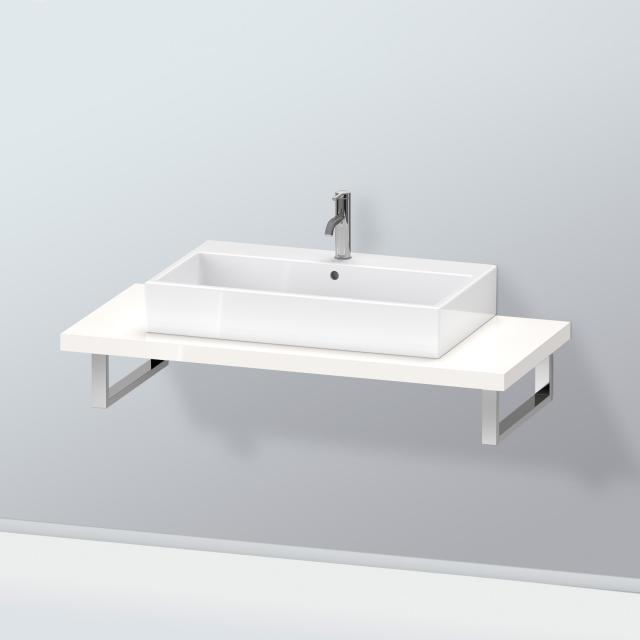 Duravit L-Cube console for 1 countertop basin / drop-in basin white high gloss