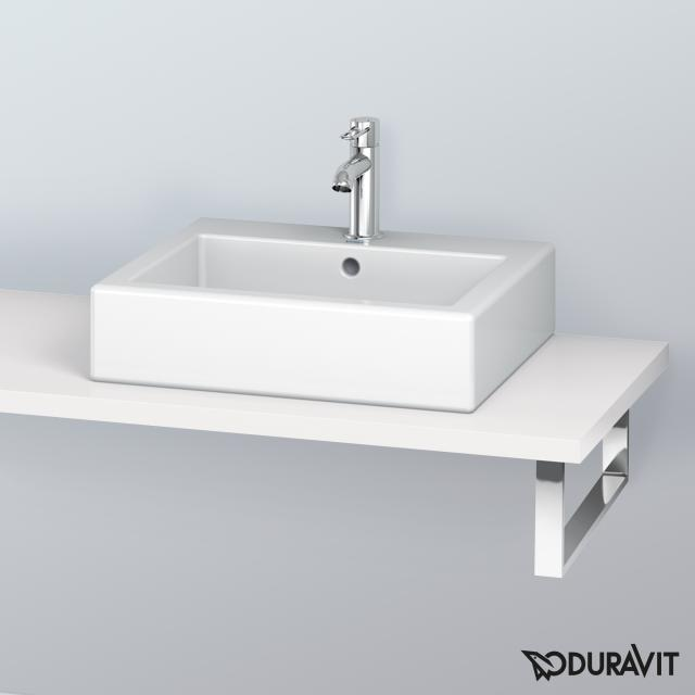 Duravit L-Cube console for countertop basin and drop-in basin white high gloss