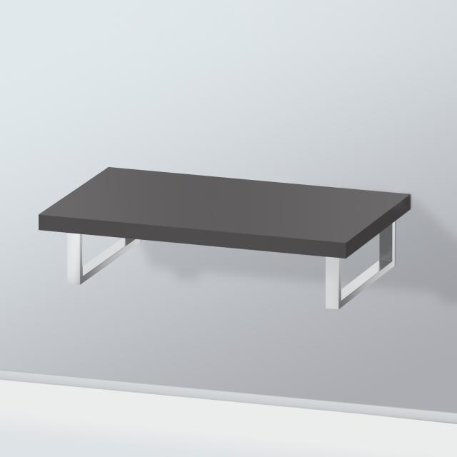 Duravit L-Cube console without cut-out for countertop basin / drop-in basin super matt graphite