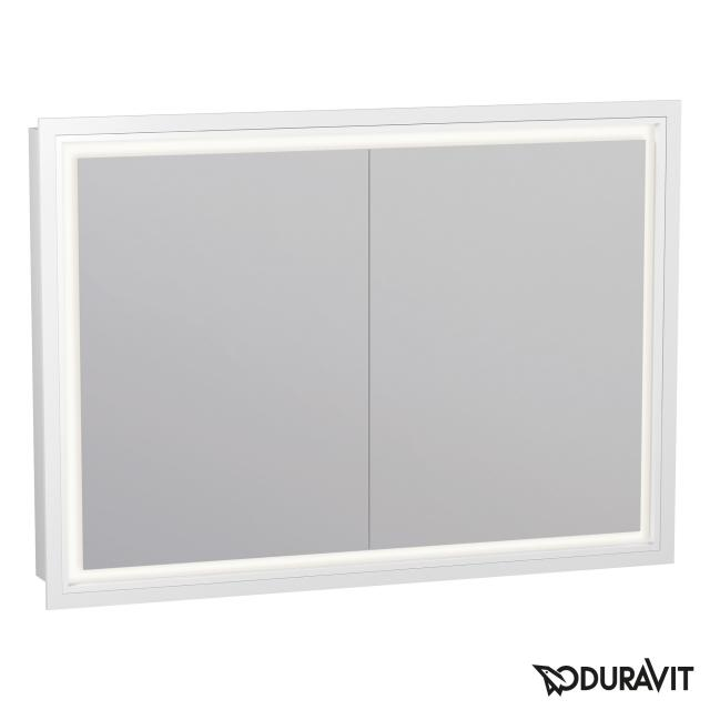 Duravit L-Cube recessed mirror cabinet with LED lighting