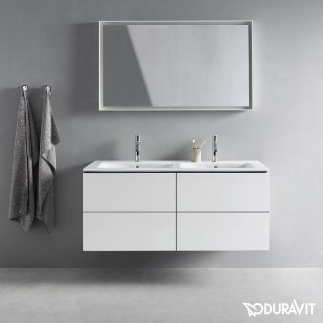 Duravit L-Cube vanity unit for double washbasin with 4 pull-out compartments front matt white / corpus matt white, without interior system