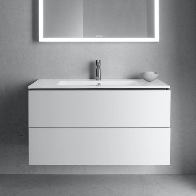 Duravit L-Cube vanity unit with 2 pull-out compartments front matt white / corpus matt white, without interior system