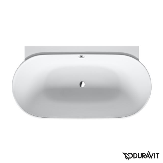 Duravit Luv back-to wall bath with panelling without tap holes in the bath rim