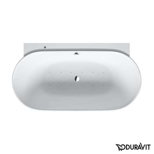Duravit Luv back-to-wall whirlbath with panelling with Air-System, with tap holes