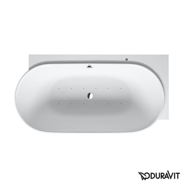 Duravit Luv corner whirlbath with panelling with Air-System, with tap holes