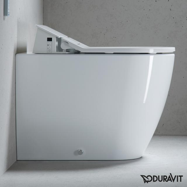 Duravit ME by Starck floorstanding washdown toilet for SensoWash®, back to wall white, with HygieneGlaze