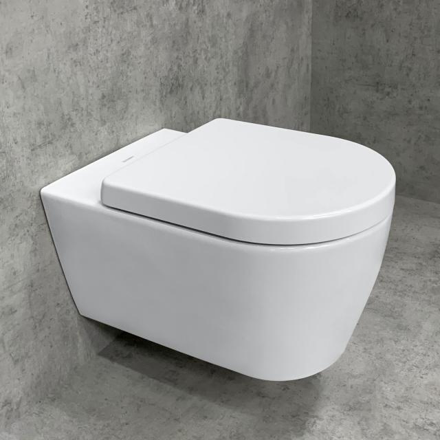 Duravit ME by Starck wall-mounted toilet & Tellkamp Premium 4000 toilet seat SET: rimless toilet white