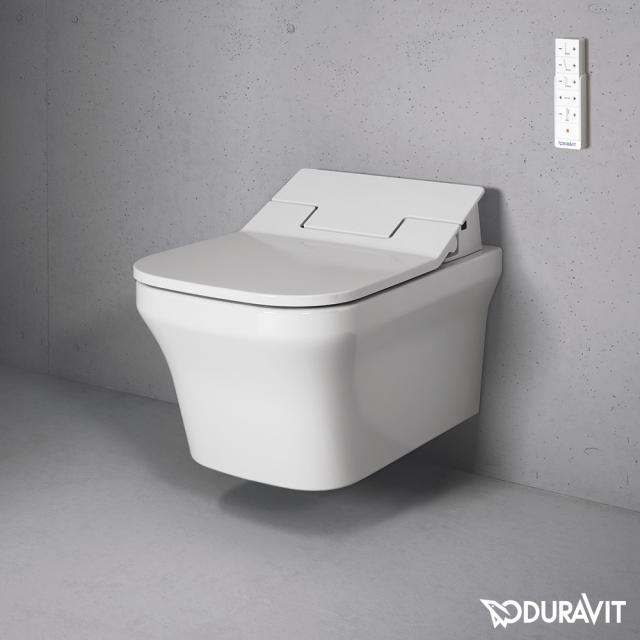 Duravit P3 Comforts wall-mounted washdown toilet Rimless with NEW SensoWash® Slim toilet seat, set white