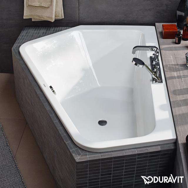 Duravit Paiova pentagonal, corner bath, built-in