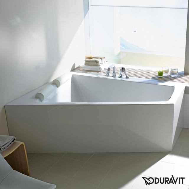 Duravit Paiova corner whirlbath with panelling with Air-System