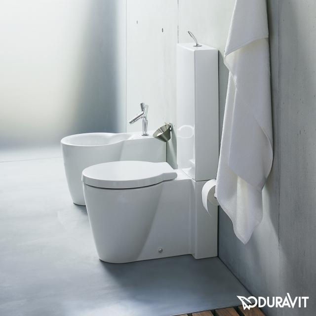 Duravit Starck 1 floorstanding close-coupled washdown toilet white, with WonderGliss
