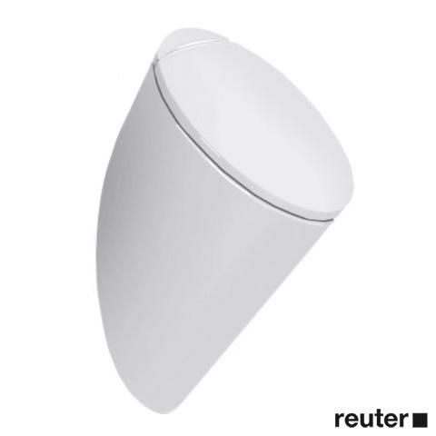 Duravit Starck 1 / Starck 2 urinal, rear supply white, with WonderGliss, with lid mounting, with target