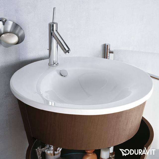 Duravit Starck 1 vanity washbasin white, with WonderGliss
