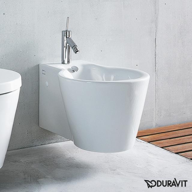 Duravit Starck 1 wall-mounted bidet 57.5 W: 41 cm white, with WonderGliss