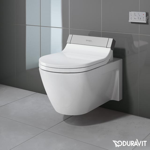 Duravit Starck 2 wall-mounted washdown toilet for SensoWash® white