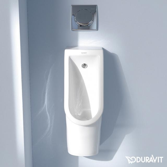 Duravit Starck 3 urinal, rimless white, with WonderGliss, rear supply