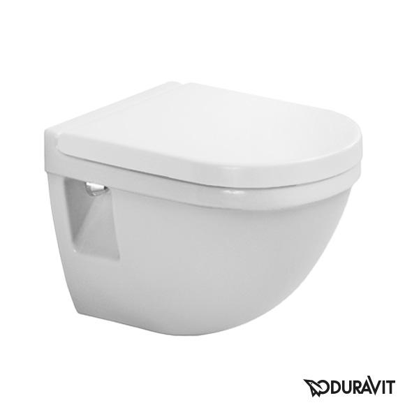 Duravit Starck 3 wall-mounted washdown toilet Compact white