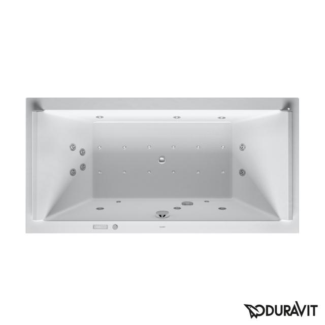 Duravit Starck rectangular whirlbath, built-in with Combi-System E, with water inlet