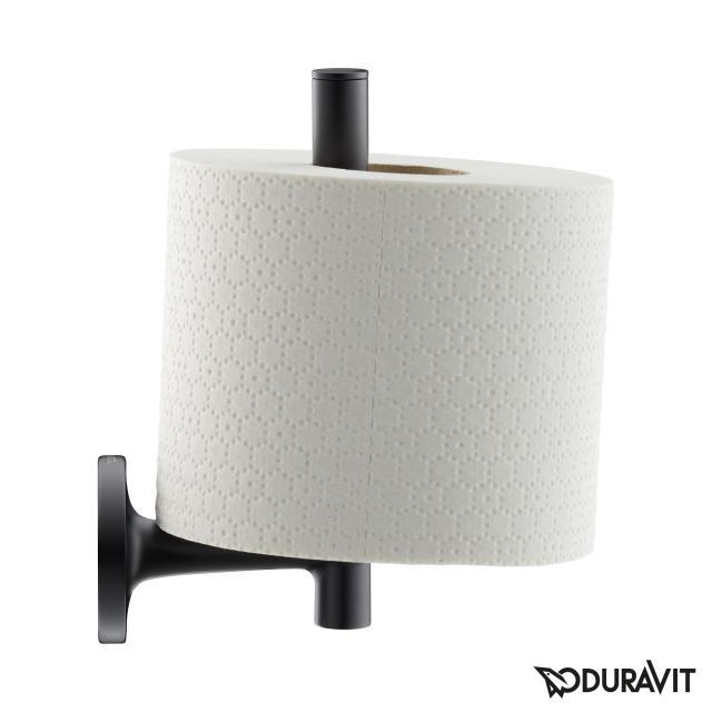 Duravit Starck T toilet roll holder for spare toilet roll matt black