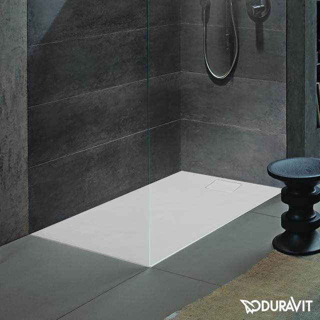 Duravit Stonetto rectangular shower tray matt white